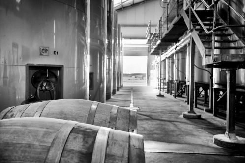 Willow Bridge Barrel room