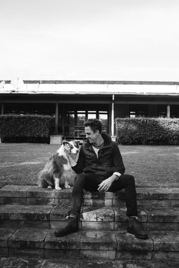 Stella bella winemaker and dog