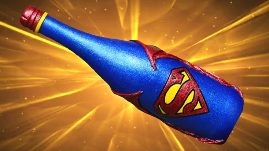 superhero wine bottle